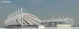Istniejąca już koncepcja budowy stadionu, która okazała się zbyt droga w realizacji
