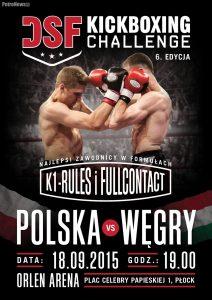 plakat DSF Kickboxing Challenge