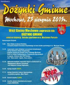 plakat Dożynki Gminne Mochowo 2015