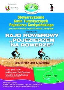 plakat Pojezierzem na rowerze