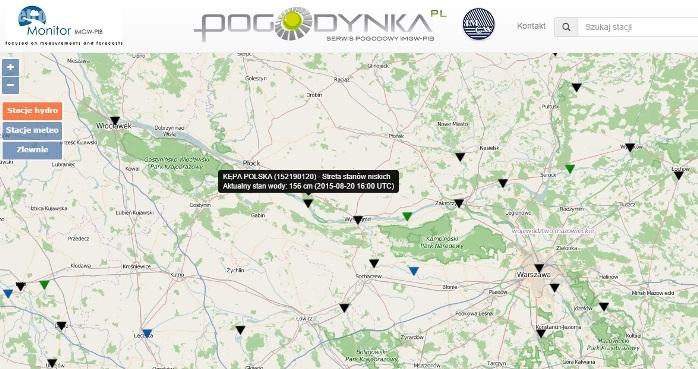 Zrzut mapy IMGW http://monitor.pogodynka.pl