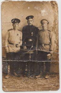 Zdjęcie pocztówka ze służby wojskowej w armii zaborcy (ok. 1905)