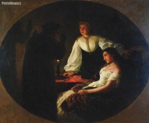 Henryk Siemiradzki - Noc św. Andrzeja - Wróżbita, 1867