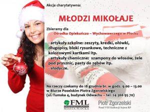 Akcja charytatywna Młodzi Mikołaje
