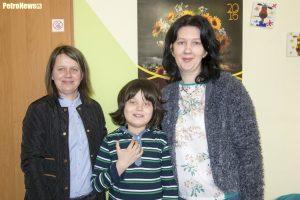 Od lewej: pani Iwona, Kacper, Katarzyna Wiśniewska