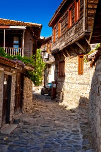 Street in old town Nessebar, Bulgary