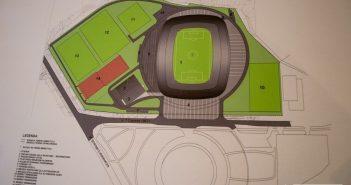 Pierwsza koncepcja stadionu w Płocku, źródło: Wisła Płock