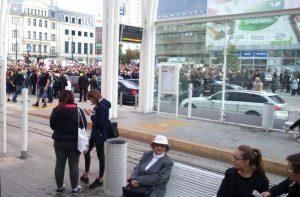 Sobotni protest kobiet w Łodzi, 2.10.2016, wzięło w nim udział około 1500 osób
