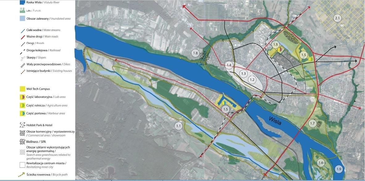 źródło: Płock - connecting city. Program rozwoju wraz z proektami kierunkowymi i rozwiązaniami koncepcyjnymi dla strefy obejmującej obszar miasta Płocka wraz z otoczeniem.