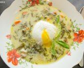 Mariola gotuje: Szczawiowa z jajkiem poszetowym