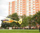 Helikopter medyczny wylądował przy Traugutta
