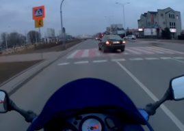 Jak dochodzi do wypadków? Zobaczcie szaleńca na drodze