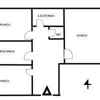 Mieszkanie  3pok, 1 piętro